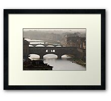 Florence and Arno Framed Print