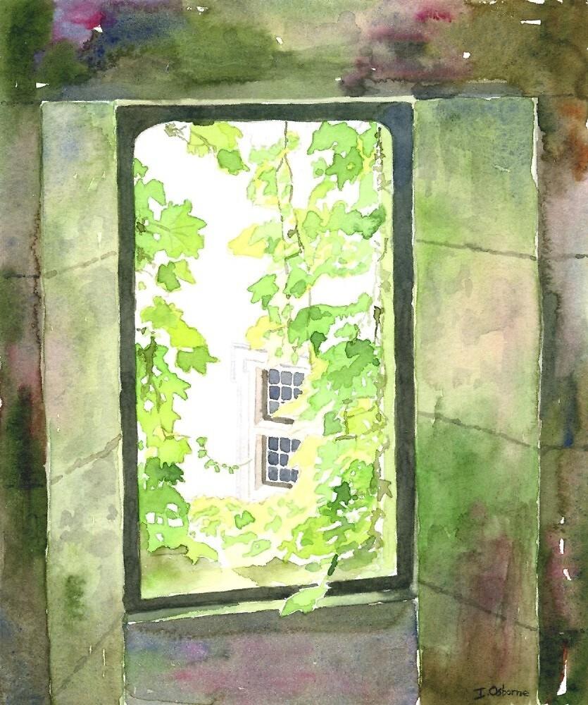 Window at the château, Varaignes, France by ian osborne