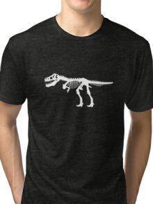 Tyrannosaurus Rex Dinosaur Skeleton Tri-blend T-Shirt