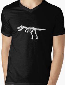 Tyrannosaurus Rex Dinosaur Skeleton Mens V-Neck T-Shirt