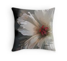 The Timid Peony Throw Pillow