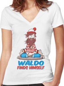 Where's Waldo Women's Fitted V-Neck T-Shirt