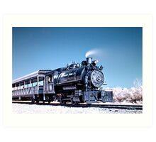 Flagg Coal Steam Engine HDR/IR Art Print