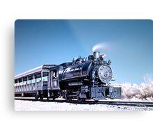 Flagg Coal Steam Engine HDR/IR Metal Print