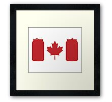 Beer Can-ada Framed Print
