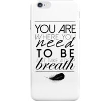 You Are Where You Need To Be ...  iPhone Case/Skin