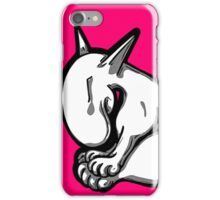 Shy English Bull Terrier  iPhone Case/Skin