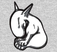 Shy English Bull Terrier  One Piece - Short Sleeve