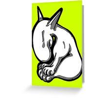 Shy English Bull Terrier  Greeting Card