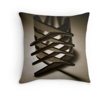 I'm Two Forked Throw Pillow