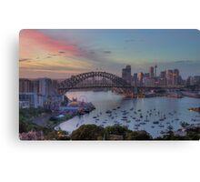 Somewhere - Sydney Harbour, Sydney Australia - The HDR Experience Canvas Print