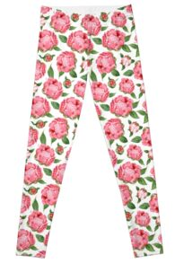 Watercolor Peonies Leggings