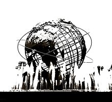 US Open Unisphere in Black and White by Johnny2X