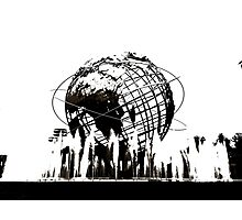 US Open Unisphere in Black and White Photographic Print