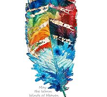 Colorful Feather Art - Cherokee Blessing - By Sharon Cummings by Sharon Cummings