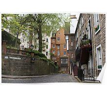 Ramsay Garden streetscape, Edinburgh Poster