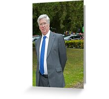 Defence secretary Michael Fallon Mp Greeting Card