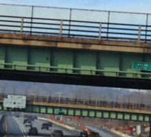Driving Through Staten Island Sticker