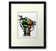 Irish Fist Sticker/ Tee Framed Print