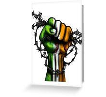 Irish Fist Sticker/ Tee Greeting Card