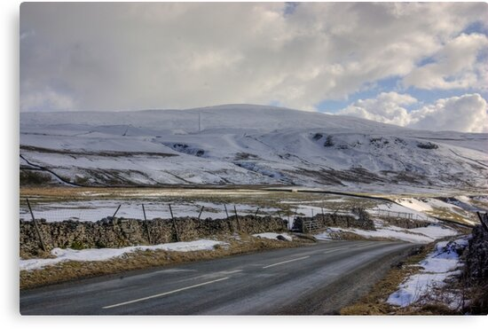 Snow Road in the Dales by Trevor Kersley