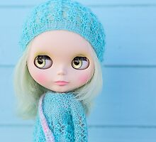 Blythe in pastel blues by Zoe Power