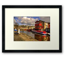Canal Side - Skipton. Framed Print