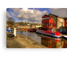 Canal Side - Skipton. Canvas Print