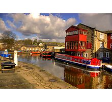 Canal Side - Skipton. Photographic Print