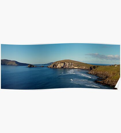 Slea Head rocks & Blasket Islands Poster