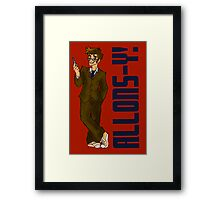 Allons-y! (With Caption)  Framed Print