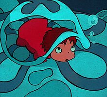 Ponyo - Hiding in a jellyfish! by Hannah Davidson