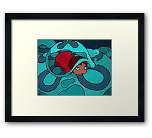 Ponyo - Hiding in a jellyfish! Framed Print