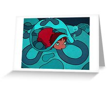 Ponyo - Hiding in a jellyfish! Greeting Card