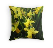 Daffodil Hope Throw Pillow