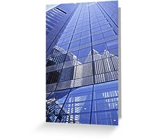 Architectural Blues Greeting Card