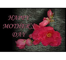 Begonia Happy Mother's Day Photographic Print