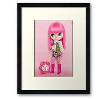 Lola is off on her travels Framed Print