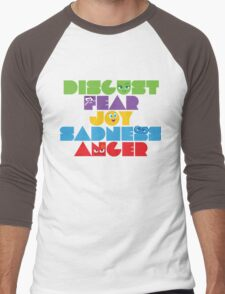 Inside Out - Stacked Emotions Men's Baseball ¾ T-Shirt