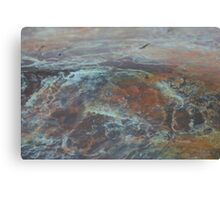 Blue & Bronze Rock Canvas Print
