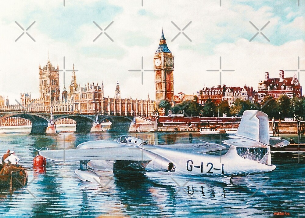 Flying Boat on the Thames by wonder-webb