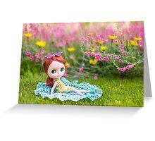 Sunbathing in the garden Greeting Card