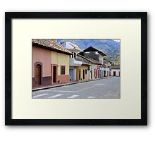 Street in Cotacachi Framed Print