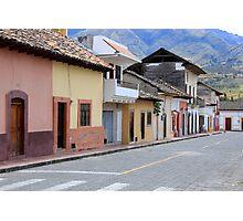 Street in Cotacachi Photographic Print
