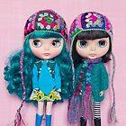 Blythes in Megipupu hats by Zoe Power