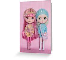 The pastel girls Greeting Card