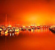 Harbor rays  by Gouzelka
