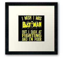Batman Wish Framed Print