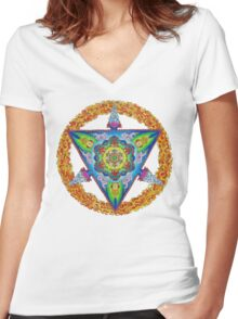 metatron's meru Women's Fitted V-Neck T-Shirt