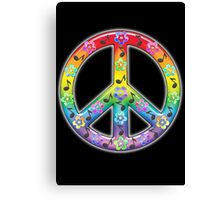Peace Symbol Hippie 2 Canvas Print